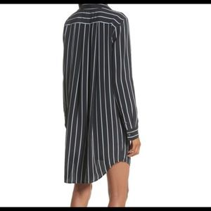 Equipment Carmine Stripe Silk Shirtdress Worn Once
